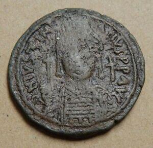 Byzantine Empire - Emperor Justinian I - 556-557 AD - AE Follis - Nicomedia Mint