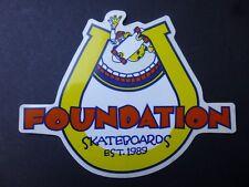 "5 1/4"" Vintage Foundation Skateboard Sticker"