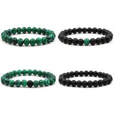 New Jewelry Black Matte Malachite Lovers Bracelets