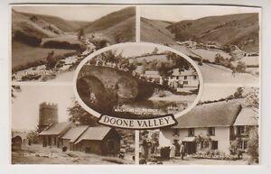 Devon postcard - Doone Valley (Multiview showing 5 Dartmoor views) - (A249)