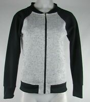 Antigua Women's Black and Gray Bomber Jacket