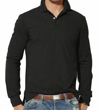 Cotton Blend Long Sleeve Basic T-Shirts for Men