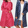 Raincoat Outdoor Waterproof Lady Dotted Travel Hooded Long Rain Coat Jacket