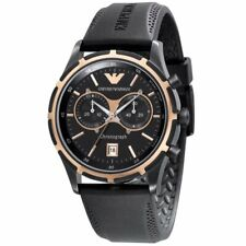 Armani Watches AR0584 Gents Black Silicon Watch