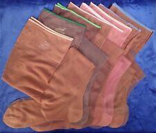Dm…Bag of Vintage Hanes Seamless Nylon Stockings Lot- 8 Pair Varied Sizes-Shades