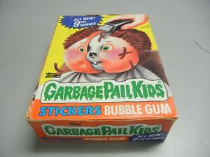 1987 Garbage Pail Kids USA GPK  Series 9 partial box, 23 Wax Packs Canada Gum!