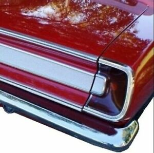 Tail Light Lens - Bezel - Trim Set for 1967 Plymouth Barracuda