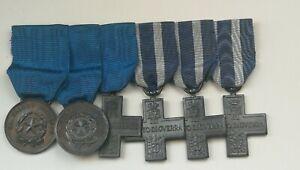 Medagliere valore militare merito di guerra Vittorio Emanuele III Repubblica
