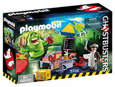 Playmobil Ghostbusters Hot Dog Stand with Slimer Science Fiction Playset Toys