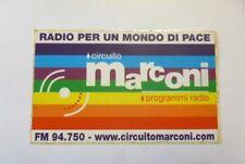 VECCHIO ADESIVO RADIO / Old Sticker RADIO MARCONI (cm 13 x 8)