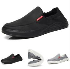 Mens Canvas Pumps Slip on Loafers Shoes Driving Moccasins Soft Flats Non-slip L