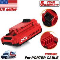 For Porter-Cable PCC682L 20V MAX Li-Ion 2.0Ah Battery New PCC680L PCC681L PCC640
