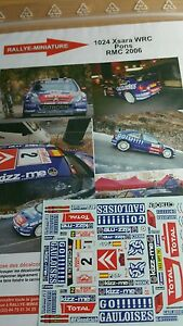 Decals 1/18 Ref 1024 Citroen Xsara WRC Pons Rally Mounted Carlo 2006 Rally