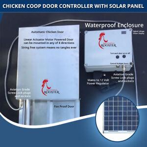ChickenSentry Automatic Chicken Coop Door Opener for 3 Doors and 1Motorised Door