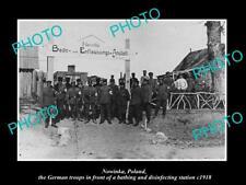 OLD LARGE HISTORIC MILITARY PHOTO WWI NOWINKA POLAND THE GERMAN BATHS 1918