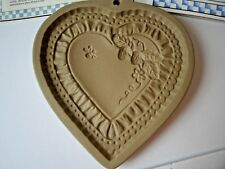 Brown Bag Cookie Art 1990 Heart Mold with Strawberries & Bee