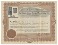 Sulpho-Carbon Foreign Manufacturing Co. Stock Certificate (Germ Killing Product)