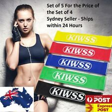 Set Of 5 Heavy Duty Resistance Band Loop Power GYM Fitness Exercise YOGA Bands 4