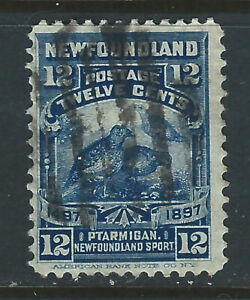 Newfoundland, #69, 12 cent Willow Ptarmigan from the 1897 Cabot Issue