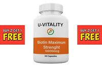 Buy 2 get 1 FREE - Biotin Vitamins Capsules 10 000 mcg Hair Skin Nails