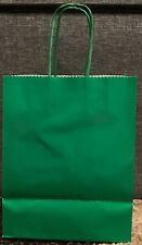 Hallmark Large Green Gift bags- Pack Of 12 - 8x10