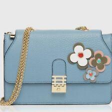 FLORIAN LONDON WOMEN'S LEATHER FLOWER MINI VIENNA PALE BLUE BAG
