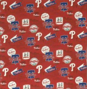 Bandanna for Philadelphia Phillies Baseball on Red 100% Cotton #638 Handmade