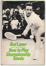 How to Play Championship Tennis - Bookplate Signed by Rod Laver - First Edition