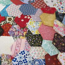175 Pre Cut Hexagon Fabric, 100% Cotton, Grandmas Flower Garden, English Piecing