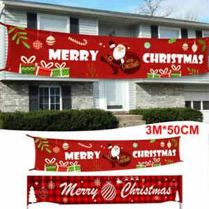 3M Merry Christmas Banner Santa Claus Decorations Xmas Outdoor Prop Home Decor