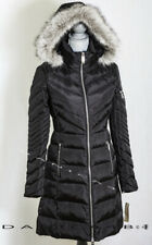 Michael Kors Women's Faux Fur Trim Hooded Quilted Down Puffer Coat L Black