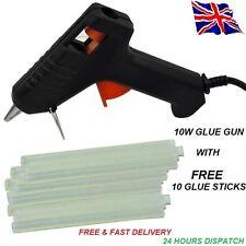 HOT MELT GLUE GUN TRIGGER ELECTRIC ADHESIVE STICKS FOR HOBBY CRAFT MINI DIY 10 *