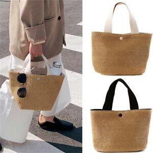 Lady Fashion Rattan Basket Wicker Straw Woven Bag Tote Woven Beach Hand Bag
