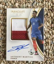 2017 Panini Immaculate Soccer Anthony Martial Signed Manchester United France