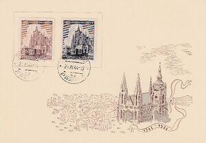 Böhmen & Mähren  140 - 41  St. Veits Dom  Sonderkarte  Ersttagsstempel