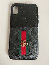 Gucci Case For Iphone X With Logo Black Leather Cardholder