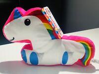 "NWT Plush Paradise Toy Factory Rainbow Unicorn Stuffed Cuddle Plush Pillow 8.5"""