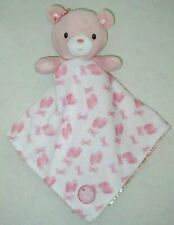 Little Me White Pink Bear Security Blanket Ballet Shoes Bows Baby Girl Lovey