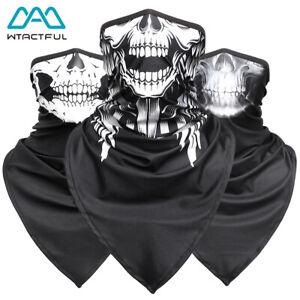 3D Skull Face Mask Neck Gaiter Sun Shield Bandana Neckerchief Scarf Halloween US