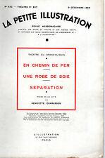 LA PETITE ILLUSTRATION N° 652 - EN CHEMIN DE FER, par H. CHARASSON - 1933