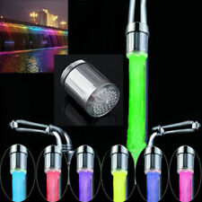 LED Water Stream Faucet Light Automatic 7 Colors Changing Shower Spout Sink EN