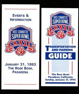 >Orig. 1993 SUPER BOWL XXVll **Host Committee** Events & Info. GUIDES X 2
