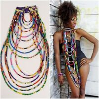 African Accessories Bohemia Style Women Necklaces Colorful Shawl Handmade