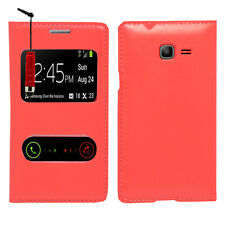 Housse Coque S View Case ROUGE Samsung Galaxy Trend Lite S7390 S7392 + Stylet