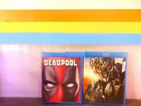 Lot of  2  Deadpool / Transformers Revenge of The Fallen  (( Blu-Ray , DVD