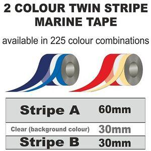 120mm wide 24m Roll 2 Colour 2 Stripe Marine Tape Multi Colour StripingA50Z25B25