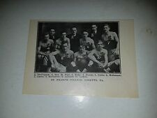 St. Francis College Loretto Pennsylvania 1913-14 Basketball Team Picture