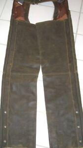 Harley Davidson L UNCUT LONG Leather Chaps Distressed Brown BILLINGS 98180-95VW