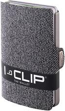 I-CLIP ® Geldbörse Jeans-Optik - Grey (In 2 Varianten Erhältlich)