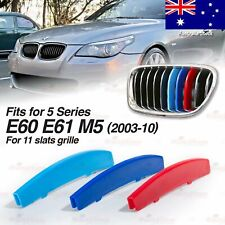 M-Power 11 BAR Kidney Grill 3 Color Cover Insert Clips fits BMW E60 E61 M5 03-10